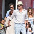 Brad Pitt  tem se apoiado nos filhos para suportar o fim do casamento com Angelina Jolie