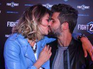 Bruno Gagliasso e Giovanna Ewbank trocam beijos em evento esportivo no Rio