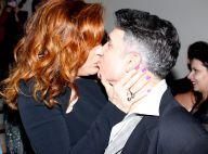 Claudia Raia beija o marido, Jarbas Homem de Mello, em estreia de musical. Fotos