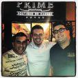 André Marques posa com Eri Johnson e Luigi Baricelli na inauguração da boutique de carnes Prime, na Barra da Tijuca, Zona Oeste do Rio, em junho deste ano