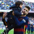 Gerard Piqué e Shakira são pais de  Milan, de 3 anos, e  Sasha, de 1