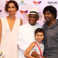 Camila Pitanga estava acompanhada por sua filha, Antonia, pelo pai, Antonio Pitanga, e pela madrasta, Benedita da Silva