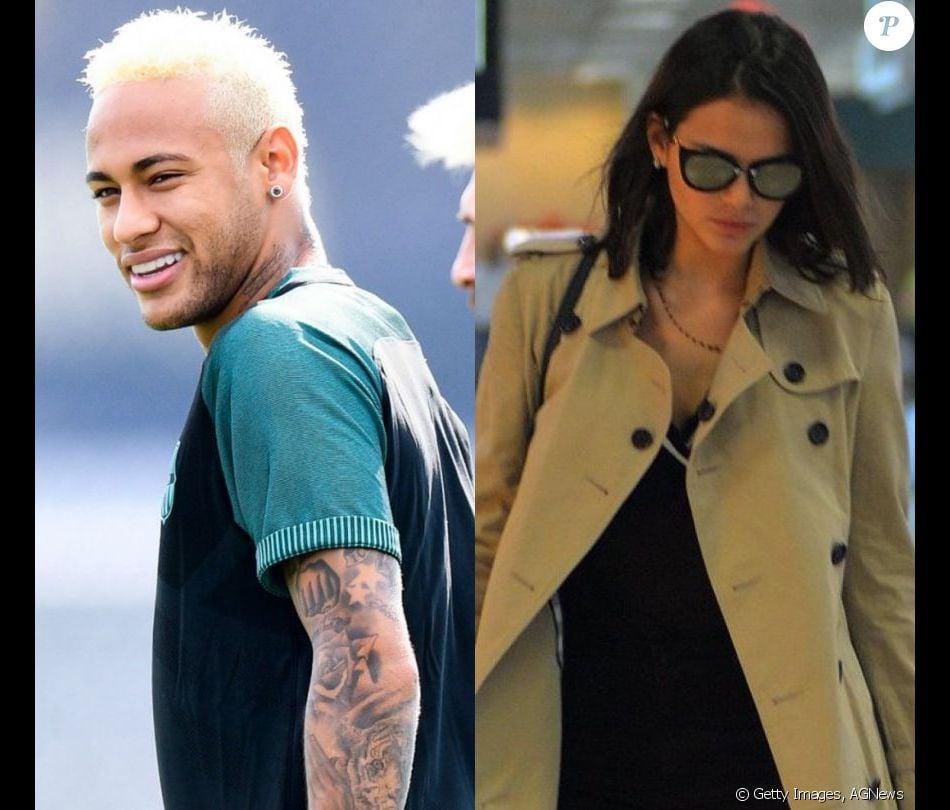 a60dc6adf0750 Neymar usa mesmo modelo de óculos de Bruna Marquezine ao chegar para ...