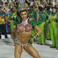 Em 2013, Gracyanne Barbosa desfilou como rainha de bateria da Mangueira