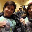 Pais de Sandy, Xororó e Noeli, acompanham a filha Sandy na plateia para ver a luta de UFC em Las Vegas neste sábado, 28 de dezembro de 2013