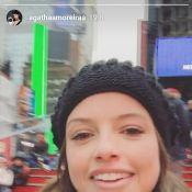 Agatha Moreira curte NY com Camila Queiroz e sofre com sinusite: 'Frio'. Vídeo!