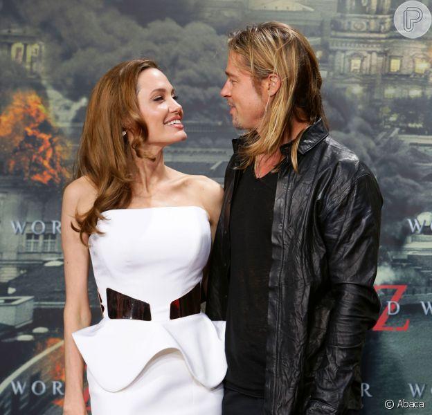 Angelina Jolie fez lista de atrizes com as quais o marido Brad Pitt não pode atuar. Entre elas, a ex-esposa do ator, Jennifer Aniston