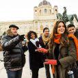 Bruna gravou cenas da novela 'Em Família' em Viena, na Áustria