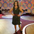 A apresentadora Fátima Bernardes gosta de vestido de babados