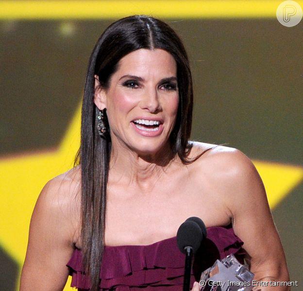 Sandra Bullock vence o Critics Choice de Melhor Atriz pelo filme 'Gravidade', em 16 de janeiro de 2014