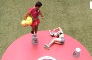 'BBB 14': Aline passa mal e desmaia durante prova do líder após 13 horas