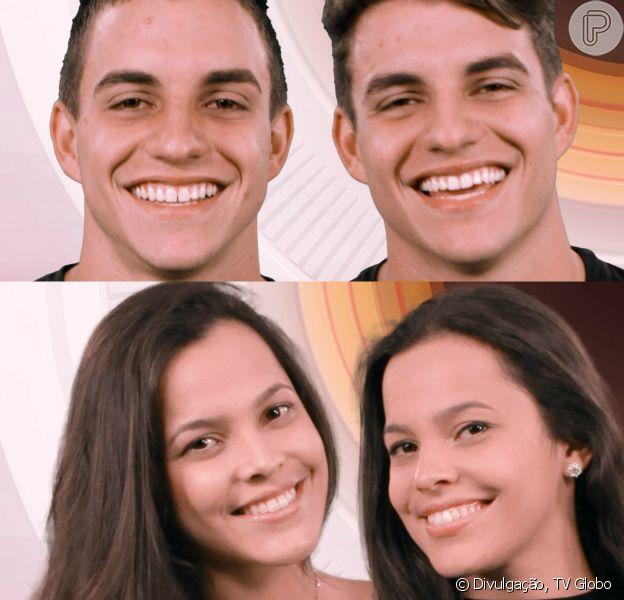Os gêmeos Antonio e Manuel Rafaski e as gêmeas Emilly e Mayla Araújo vão entrar no 'BBB17' na segunda-feira, 23 de janeiro de 2017, mas um dia depois um irmão de cada dupla deixará o reality por decisão do público
