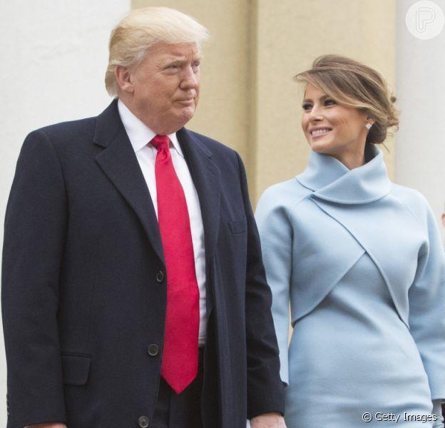 Look de Melania Trump divide opinião na posse de Donald Trump nos EUA: 'Estranho', disse um internauta nesta sexta-feira, 20 de janeiro de 2017