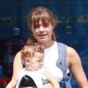 Sophie Charlotte exibe cabelos mais claros e franja em passeio com filho. Fotos!