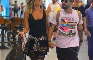 Bruno Gagliasso e Giovanna Ewbank usam calças rasgadas para viajar: 'Sintonia'