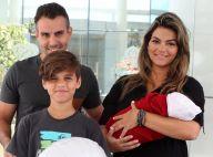 Kelly Key deixa maternidade no Rio após nascimento de Artur, seu terceiro filho
