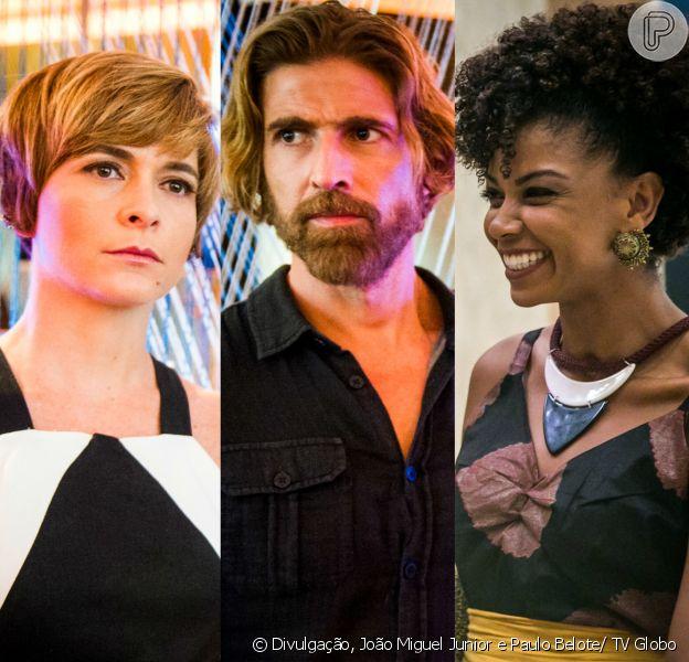 Helô (Claudia Abreu) perde o bebê que espera de Pedro (Reynaldo Gianecchini) enquanto Laura (Heloisa Jorge) revela ao velejador que eles têm uma filha juntos, na novela 'A Lei do Amor', a partir de 6 de fevereiro de 2017