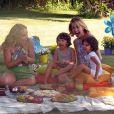 Bianca Rinaldi foi a entrevistada de Angélica. A atriz e a apresentadora se divertiram com as gêmeas Beatriz e Sofia, de 4 anos, frutos do casamento de Bianca com o empresário Eduardo Menga