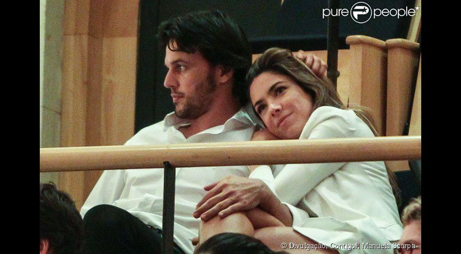 Patricia Abravanel está grávida do primeiro filho com o deputado federal Fábio Faria (PSD-RN), em 7 de fevereiro de 2014