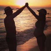 Bárbara Borges viaja para o Havaí com marido e faz enxoval de seu primeiro filho