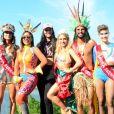 Um time de famosos se encontrou no Bloco das Poderosas comandado por Anitta