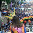 Anitta cantou para multidão no Bloco das Poderosas