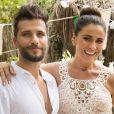 Alice (Giovanna Antonelli) e Mario (Bruno Gagliasso) se casam, na novela 'Sol Nascente'
