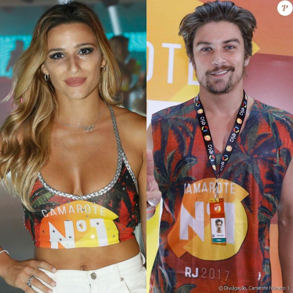 Jade Barbosa e Raphael Sander se beijaram em camarote da Sapucaí, no final da madrugada deste domingo, 5 de março de 2017, conta o jornal 'Extra'