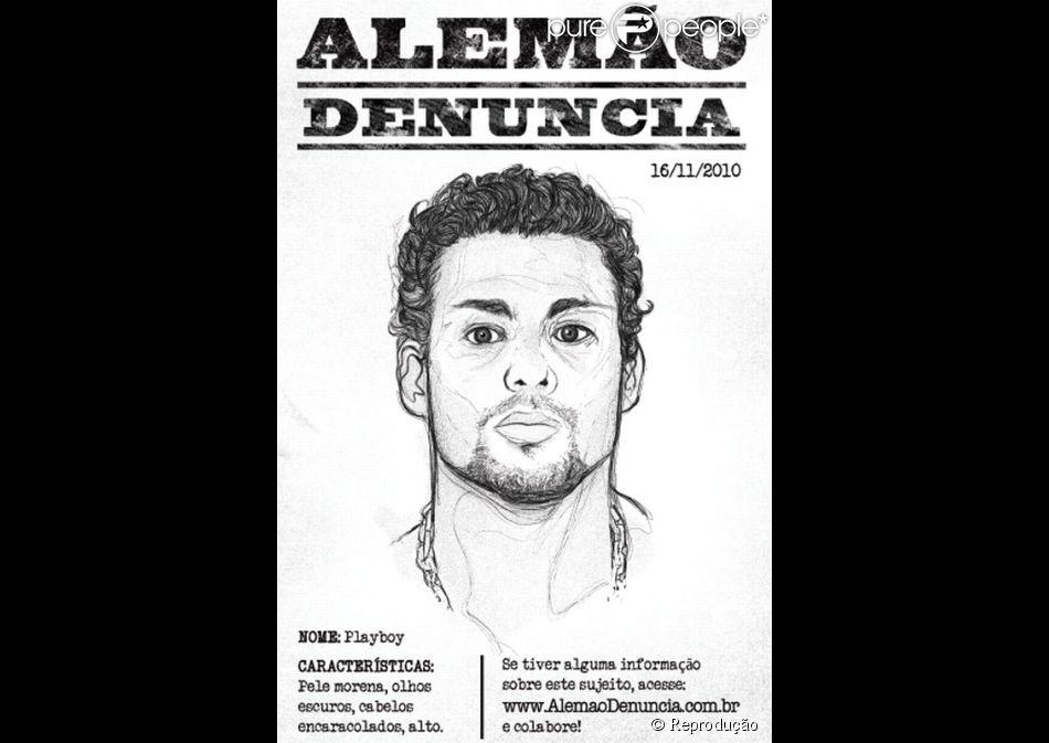 Retrato-falado de Cauã Reymond será espalhado pelo Rio de Janeiro na divulgação do filme 'Alemão'