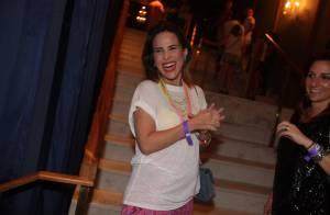 Grávida, Wanessa exibe barriguinha discreta em show de Preta Gil, em São Paulo