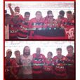 Famosos comemoraram os gols de Elano, Hernane e Everton no camarote do Flamengo, badalado pela promoter Carol Sampaio