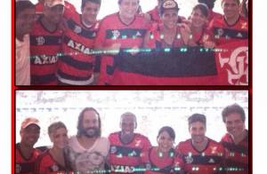 Vinícius Romão festeja vitória do Flamengo no Maracanã no dia em que foi solto