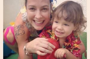 Luana Piovani vai à festa de Carnaval da escola do filho, Dom: 'Ama bagunça'
