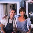 Cadu (Reynaldo Gianecchini) e Clara (Giovanna Antonelli) são casados, na novela 'Em Família'