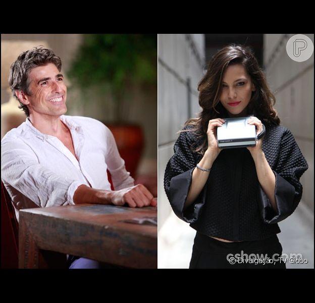 Cadu (Reynaldo Gianecchini) sente ciúmes de Clara (Giovanna Antonelli) com Marina (Tainá Müller) e recusa proposta de investimento da fotógrafa em seu restaurante, na novela 'Em Família', em 12 de março de 2014