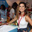 Fernanda Paes Leme está aproveitando o Carnaval de Salvador no camarote Expresso 2222