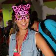 Fernanda Paes Leme usou a máscara um dia depois de ser flagrada aos beijos