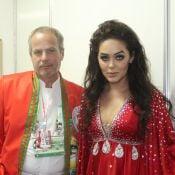 Carnaval: Tania Mara desfila vestida de Maysa, mãe do marido Jayme Monjardim