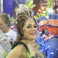 Christiane Torloni é a madrinha de bateria da Grande Rio. A escola desfilou no domingo, 2 de março de 2014, na Sapucaí