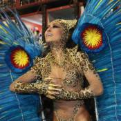 Sabrina Sato, de onça, brilha à frente da bateria da Vila Isabel: 'A melhor'