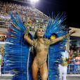 Sabrina Sato desfila como rainha de bateria na Unidos de Vila Isabel, em 4 de março de 2014