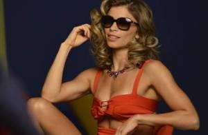 Grazi Massafera exibe boa forma nos bastidores de campanha de marca de óculos