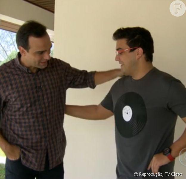 André Marques recebe Tadeu Schmidt em sua casa, no Rio de Janeiro, para falar sobre a perda dos 51 quilos após se submeter a uma cirurga bariátrica para o 'Fantástico', neste domingo, 9 de março de 2014