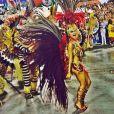 Paloma Bernardi desfilou pela Grande Rio no Carnaval deste ano