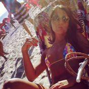 Carolina Portaluppi, filha de Renato Gaúcho, exibe corpão na praia de Ipanema