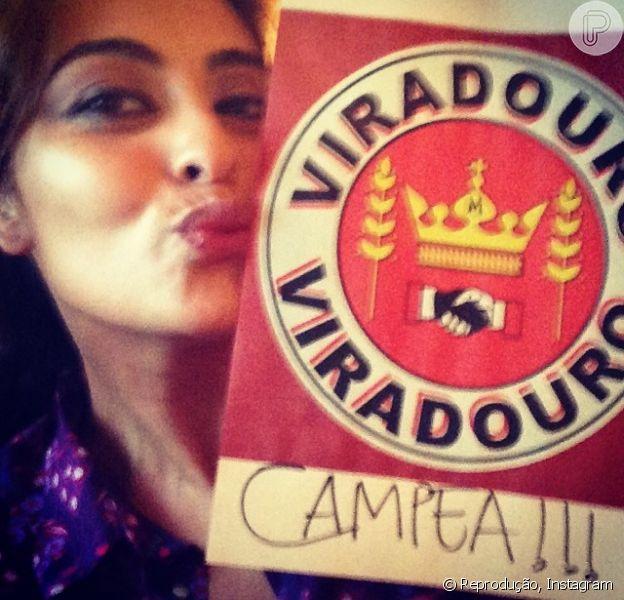 Juliana Paes vibrou no Carnaval de 2014 ao saber que a Viradouro subiu para o Grupo Especial