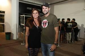 Giovanna Antonelli curte show do Guns N' Roses com o marido, Leonardo Nogueira