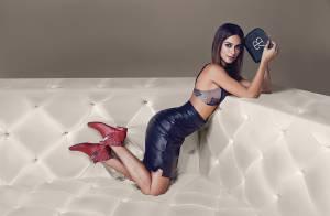 Thaila Ayala posa sensual para campanha de moda: 'Prazer ter vocês aos meus pés'