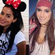 Anitta também está com as maçãs do rosto mais ressaltadas atualmente (à esquerda)