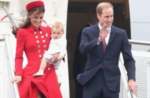 Príncipe George chega à Nova Zelândia com William e Kate em 1ª viagem oficial